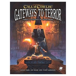 Picture of Call of Cthulhu RPG Gateways to Terror Three Evening of Nightmare SC