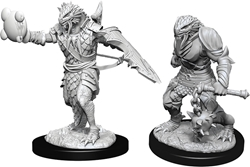 Picture of Dungeons and Dragons Nolzur's Marvelous Dragonborn Male Paladin Unpainted Miniatures