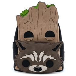 Picture of Marvel POP Guardians of the Galaxy Groot and Rocket Cosplay Mini Backpack