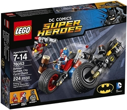 Picture of LEGO DC Comics Super Heroes Batman Gotham City Cycle Chase with Batman, Deadshot and Harley Quinn 224 Pcs