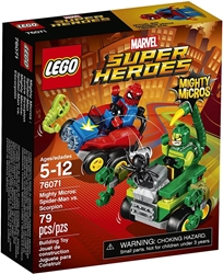 Picture of LEGO Marvel Super Heroes Mighty Micros Spider-Man vs. Scorpion 93 Pcs
