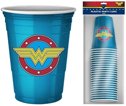 Picture of Wonder Woman Logo 18oz Plastic Cup Set of 20