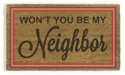 Picture of Mister Rogers Won't You Be My Neighbor Doormat