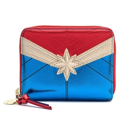 Picture of Captain Marvel Classic Cosplay Marvel Zip Around Wallet