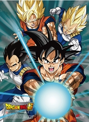 Picture of Dragon Ball Super Battle of Gods Group SS Wall Scroll