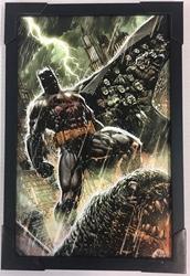 Picture of Batman Rain Framed Print