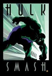 Picture of Marvel Hulk Art Deco Framed Print