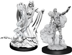 Picture of Dungeons and Dragons Nolzur's Marvelous Unpainted Lich and Mummy Lords Miniatures
