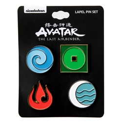 Picture of Avatar The Last Airbender Elements Lapel Pin Pack