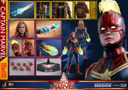 Picture of Captain Marvel Deluxe Version - Hot Toys Sixth Scale Figure