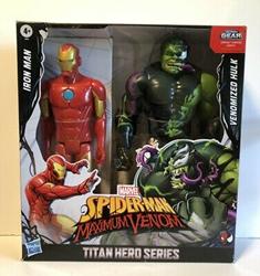 Picture of Hasbro Spider-Man Maximum Venom Titan Hero Series Iron Man and Venomized Hulk