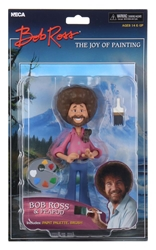 Picture of Toony Classics Bob Ross with Peapod 6-inch Action Figure