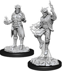 Picture of Dungeons and Dragons Nolzur's Marvelous Tiefling Male Sorcerer Unpainted Miniatures