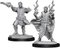 Picture of Dungeons and Dragons Nolzur's Marvelous Unpainted Human Male Sorcerer Miniatures