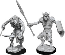 Picture of Dungeons and Dragons Nolzur's Marvelous Unpainted Gnoll and Gnoll Flesh Carvers Miniatures