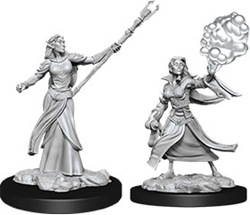 Picture of Dungeons and Dragons Nolzur's Marvellous Unpainted Elf Female Sorcerer Miniatures