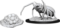 Picture of Dungeons and Dragons Nolzur's Marvelous Unpainted Giant Spider and Egg Clutch Miniatures