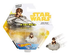 Picture of Star Wars Han Solo Millenium Falcon Hot Wheels Battle Rollers Car