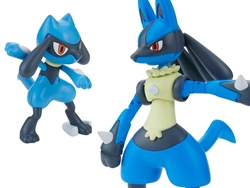 Picture of Pokemon Riolu and Lucario Model Kit