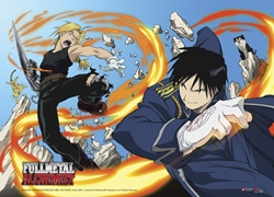 Picture of Fullmetal Alchemist Ed and Roy Wall Sroll
