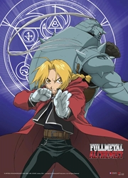 Picture of Fullmetal Alchemist Ed and Alphonse Wall Sroll