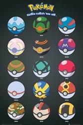 Picture of Pokemon Pokeballs Poster