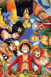 Picture of One Piece Looking Down Poster