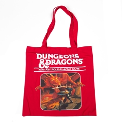 Picture of Dungeons and Dragons Red Tote Bag