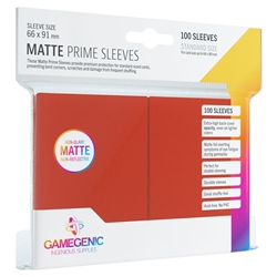 Picture of Matte Prime Card Sleeves 100 Count Red
