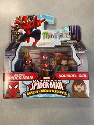 Picture of Minimates Marvel Ultimate Spider-Man Web-Warriors includes Jet-Pack Spider-Man and Squirrel Girl