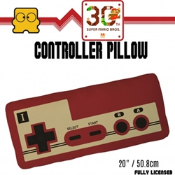 """Picture of Super Mario 30th Controller 20"""" Pillow"""