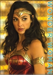 Picture of Wonder Woman 84 Gold Background Magnet