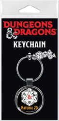 Picture of Dungeons and Dragons Natural 20 Keychain