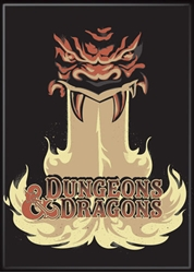 Picture of Dungeons and Dragons Fire Logo Magnet