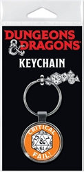 Picture of Dungeons and Dragons Critical Fail Keychain