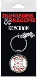 Picture of Dungeons and Dragons Saving Throw Keychain