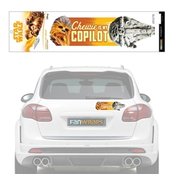 Picture of Star Wars Chewbacca is My Co-Pilot Bumper Sticker