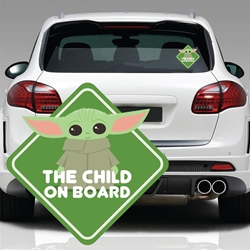 Picture of Star Wars Mandalorian Child on Board Window Decal