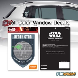 Picture of Star Wars Death Star Badge Window Decal