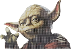 Picture of Star Wars Yoda Classic Passenger Series Window Decal