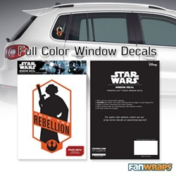 Picture of Star Wars Leia Join the Leia Rebellion Window Decal
