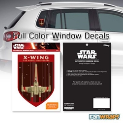 Picture of Star Wars X-Wing Starfighter Badge Window Decal