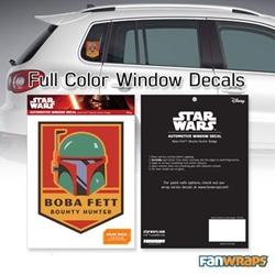 Picture of Star Wars Boba Fett Bounty Hunter Badge Window Decal