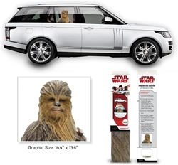 Picture of Star Wars Chewbacca Last Jedi Passenger Series Window Decal