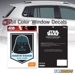Picture of Star Wars Darth Vader Sith Lord Badge Window Decal