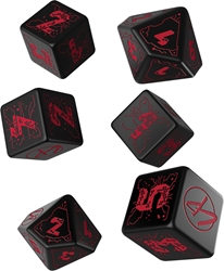 Picture of Cyberpunk RPG Red Essential Dice Set