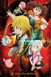 """Picture of Seven Deadly Sins Characters 24"""" x 36"""" Poster"""