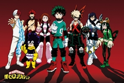 "Picture of My Hero Academia Line Up 24"" x 36"" Poster"