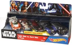 Picture of Star Wars Hot Wheels Light Side vs. Dark Side 5-Pack
