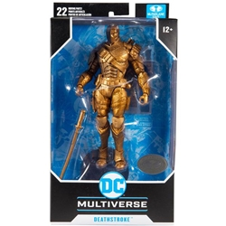 "Picture of Deathstroke Arkham Origins DC Multiverse 7"" Figure Platinum Chase Edition"